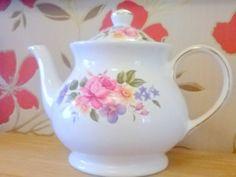 Sadler Tea Pot Made In England Vintage Floral by billingsleyson