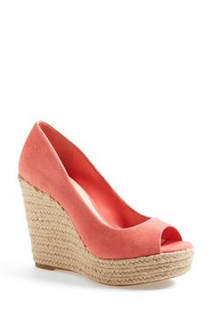 Peep Toe Espadrille Wedges by Vince Camuto
