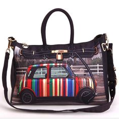 Shoespie Chic Print Tote / One Shoulder Handbag From the Plus Size Fashion Community at www.VintageandCurvy.com