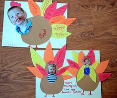 Preschool Turkey Craft Ideas - Write things you're thankful for on each feather.