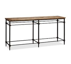 Make using closet shelving from pipe tutorial already pinned. Console Table #potterybarn