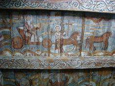 Biserica de lemn din Ieud Deal - Înălțarea proorocului Ilie Religious Paintings, Popular Art, Christianity, Glass, Frame, Home Decor, Picture Frame, Decoration Home, Drinkware