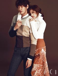 Kim Young Kwang & Jung So Min for Ceci Korea September 2015. Photographed by Lee Soo Jin