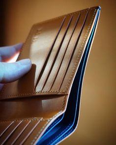 The bespoke #wallet in combination dark blue marine with cognac.. by simaprague
