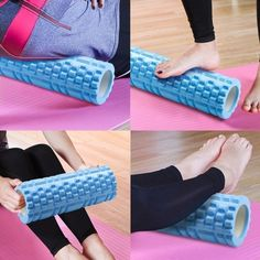This medium-density muscle massage roller is comfortable to use, making it convenient for beginners. Very effective in penetrating the soft tissue layer of tired muscles, it is gentle enough to be used in case of pain due to injury. No Equipment Workout, Workout Gear, Gym Workouts, Fitness Equipment, Post Workout, Workout Accessories, Yoga Accessories, Bloc Yoga, Pilates Foam Roller
