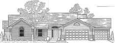 Elevation of Traditional   House Plan 59627