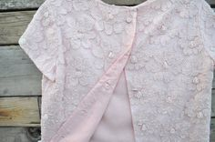 Vintage Pale Pink Beaded Cropped Jacket Size Small via Etsy