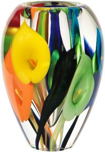 glass Art NEW__Calla lily vase by Scott Bayless Glass Ceramic, Mosaic Glass, Stained Glass, Ceramic Bowls, Ceramic Art, Art Of Glass, Blown Glass Art, Cristal Art, Colored Glass Vases