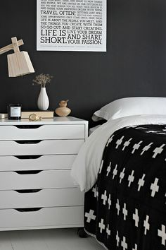 Ikea office for bedside table