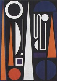 Auguste Herbin, Minuit, 1953                                                                                                                                                                                 More