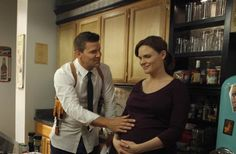 Dr. Temperance Brennan (Emily Deschanel) & Agent Seeley Booth (David Boreanaz) in Bones
