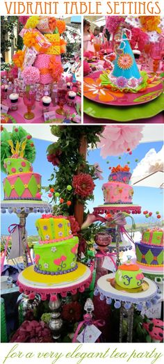 Birthday themed fancy tables