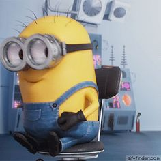 Share this Minion Laugh Animated GIF with everyone. is best source of Funny GIFs, Cats GIFs, Reactions GIFs to Share on social networks and chat. Minion Gif, Cute Minions, Minion Jokes, Minions Quotes, Minions Images, Funny Minion Pictures, Minion Banana, Cute Disney Wallpaper, Cute Gif