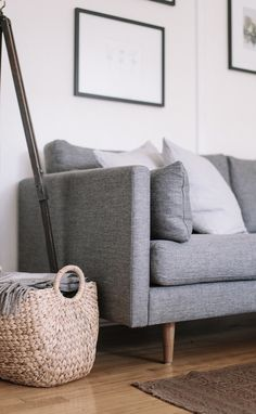 ANTON sofa in 'Gravel Gray'  Photo by Gillian Stevens