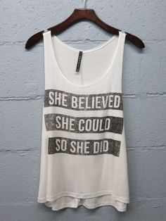 A statement tank for the super women out there. Made in the USA.