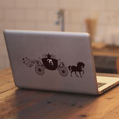 Disney Cinderella Carriage - Apple Macbook Air/Pro Laptop Vinyl Decal Sticker