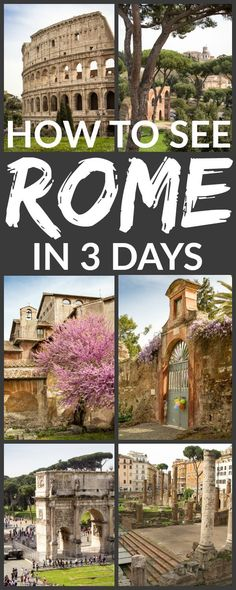 THIS ONE - It would be easy to spend several weeks in the Eternal City and still not experience all of the history, culture, and food this balmy capital city has to offer. With so much to see (and so few vacation days!), planning a trip can quickly become overwhelming. Here's how to see the wonders of Rome in 3 days!