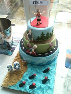 Triathlon Cake  Gloverly Cupcakes