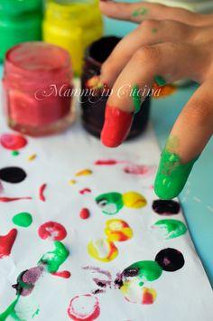 Tempera o colori a dita fatti in casa veloce mamme in cucina