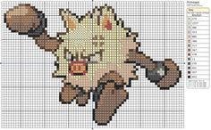 57 - Primeape by Makibird-Stitching