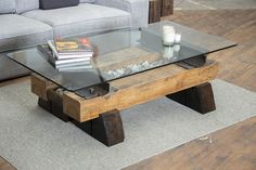Sleepers Coffee Table No. 49 in two-tone ebony and natural