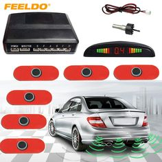 FEELDO Car LED Display 6 Original Sensors Reverse Aid Backup Radar Parking Sensor System #J-1355 #Affiliate