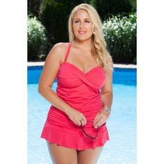 bfea0b84ec9e4 Always For Me Isabella Plus Size Tankini Turq. Always for Me s sexy two  piece plus size tankini swimsuit -seen in PLUS Model Magazine and Seventeen  ...