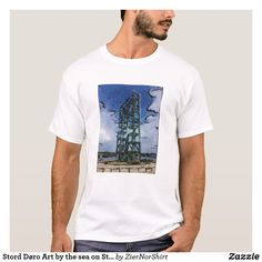 Shop Stord Døro Art by the sea on Stord T-Shirt created by ZierNorShirt. Fitness Models, Mens Fashion, Unisex, Casual, Sleeves, Cotton, Mens Tops, T Shirt, How To Wear