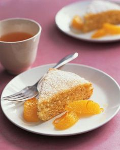 Orange-Yogurt Cake yogurt is a great way to add moisture without much fat to your baking. Flecks of orange zest flavor the cake as well as the fresh orange topping. Fruit Recipes, Cake Recipes, Dessert Recipes, Bread Recipes, Lunch Recipes, Recipies, Orange Yogurt, Orange Zest, Plain Yogurt