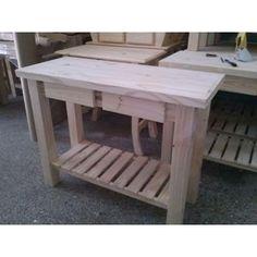 Mesa de centro estilo industrial formada por caballetes de - Mesas con estilo ...