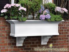 Provincial Window - Kit - White - Self Watering Window Boxes - Window Boxes - Windowbox.com