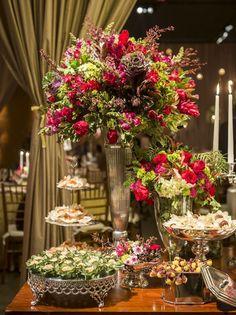 Casamento Jardim Vermelho e Rosa