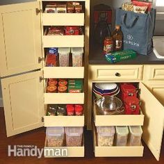 Add rollouts to your kitchen cabinets to maximize storage space, provide easier access, streamline your cooking, save your back and simplify clean-up chores.