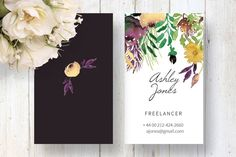 Watercolour Business Card by Webvilla on Creative Market