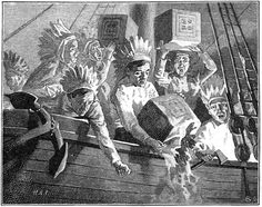 On Dec 16, 1773, a group of MA colonists disguised as Mohawk Indians dumped 342 chests of tea into the Boston Harbor-an event that came to be known as the Boston Tea Party.