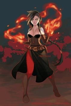 Azar: A fire mage whose village tried to burn her at the stake. She escaped unharmed. Her village did not. She became drunk on power and razes simple-minded people if they threaten young magic users. Female Character Design, Character Creation, Character Design Inspiration, Character Concept, Character Art, Dungeons And Dragons Characters, Dnd Characters, Fantasy Characters, Female Characters