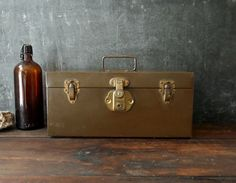 Vintage Kennedy Kits Metal Tackle Strong Tool Box by FoxberryHill