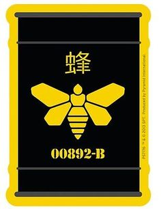 Breaking bad golden bee #barrel 00892-b #sticker #(9.5cm) new,  View more on the LINK: 	http://www.zeppy.io/product/gb/2/121443159042/