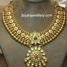antique kundan necklace