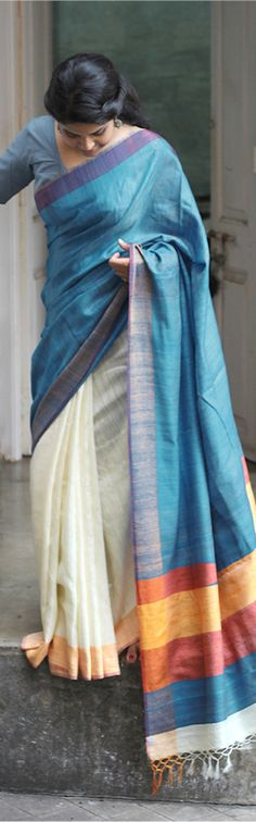 She and her saree.