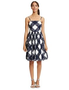 Sandra Sundress - perfect for spring. Love the cut of the dress and graphic print
