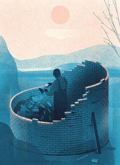 Moody, textural illustrations by Karolis Strautniekas | The Fox Is Black