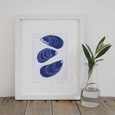 lino prints of shells - Google Search