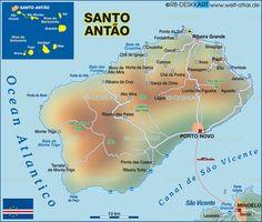 Map of Santo Antao (Cape Verde) #CapeVerde #teamFunana #TeamCapeVerdean
