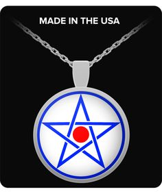 Liber AL vel Legis I, 60 necklace . Pentagram . Aleister Crowley, Ordo Templi Orientis gifts. Alchemy Occult esoteric gift accessories Do What Thou Wilt Magick