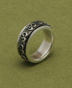 Sterling Silver Spinning Om Meditation Ring