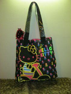 31b723f5a0 new black Hello Kitty Vespa tulips tote bag shopper handbag purse Sanrio