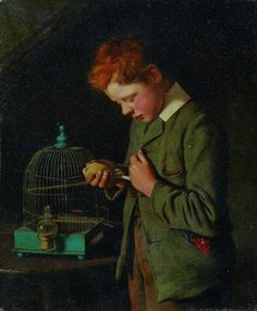 Charles Spencelayh His first grief, 1910