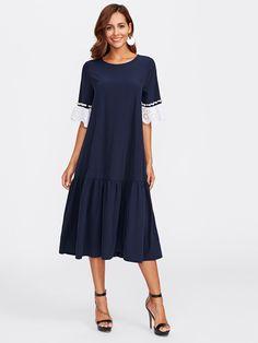 Модное платье с бусинами