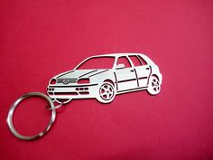 VW Golf 3 Personalized Key Chain Keychain by GuestFromThePast
